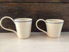 Set of Porcelain Mugs by VAceramics on Etsy
