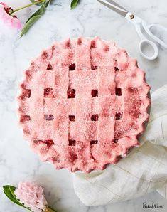 Strawberry Pie with Strawberry Crust