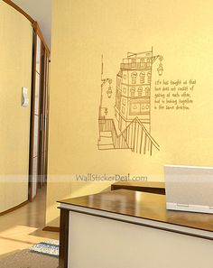 Sketch Building At The Place Wall Sticker
