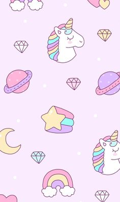 Check out this awesome collection of Kawaii Unicorn wallpapers, with 57 Kawaii Unicorn wallpaper pictures for your desktop, phone or tablet. Wallpaper Texture, Unicornios Wallpaper, Cute Pastel Wallpaper, Cute Wallpaper For Phone, Trendy Wallpaper, Kawaii Wallpaper, Pattern Wallpaper, Wallpaper Backgrounds, Fashion Wallpaper