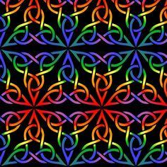 Triangle Knot- Rainbow fabric by shala on Spoonflower - custom fabric Rainbow Wallpaper, Colorful Wallpaper, Rainbow Background, Water Art, Illusion Art, Op Art, Cool Patterns, Custom Fabric, Spoonflower