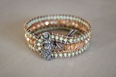 19 Awesome braccialetti con perline e cuoio images
