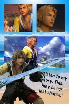 Final Fantasy wallpapers~Tidus by on deviantART Final Fantasy 3, Final Fantasy Characters, Video Game Characters, Fantasy Art, Disney Characters, Tidus And Yuna, Future Tattoos, Kingdom Hearts, Fantasy World