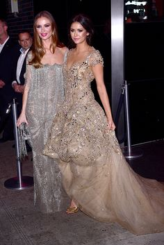 Georgina Chapman and Nina Dobrev