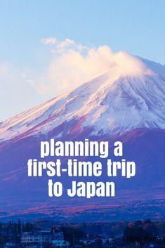 Planning a first-time trip to Japan. #JapanTravel #JapanTravelIdeas