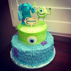 Monsters Inc themed Baby Shower Cake