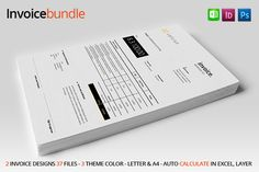 Check out 2 Simple Invoice by celcius design on Creative Market