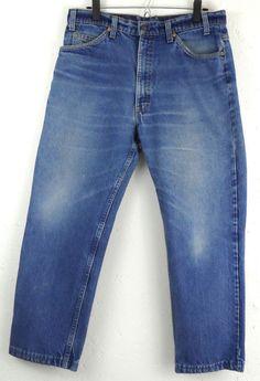 Levis 509 Orange Tab Jeans Tag 36 x 30 / Measures 34 x 27 Distressed Med Wash  #Levis #ClassicStraightLeg