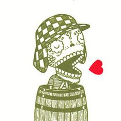 Chavo del Ocho Calavera Limited Edition Gocco Screenprint Day of the Dead