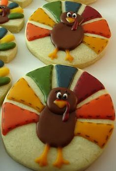 the cutest thanksgiving cookies.also cute for the nieces bday given its at Thanksgiving. Thanksgiving Cookies, Thanksgiving Recipes, Fall Recipes, Holiday Recipes, Thanksgiving Turkey, Happy Thanksgiving, Turkey Recipes, Turkey Cookies, Fall Cookies