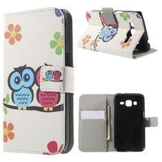 Mesh - Samsung Galaxy Core Prime Hoesje - Wallet Case Twee Uilen   Shop4Hoesjes
