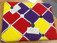 Introduction to FACS class 1st sewing project bulletin board