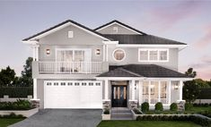 Clarendon City Range A showcase of exquisite style Facade Design, Küchen Design, Exterior Design, House Paint Exterior, Exterior House Colors, Style At Home, Bungalow Style House, Clarendon Homes, Restaurant Facade