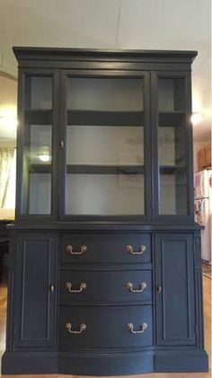 Navy Painted Hutch - $450 (University Place/Tacoma) http://seattle.craigslist.org/tac/fuo/4900183947.html