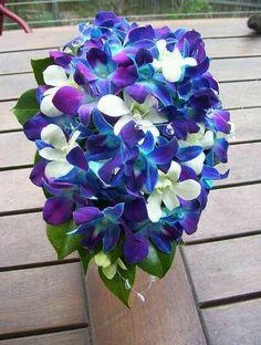 Blue orchids flower arrangment