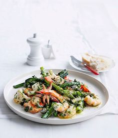 Australian Gourmet Traveller recipe for fast seafood salad with herb dressing.