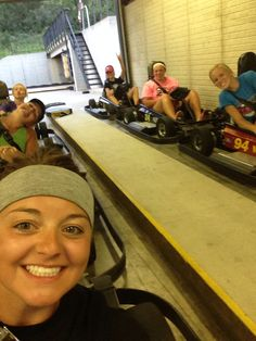 My friends and I love to drive go-carts