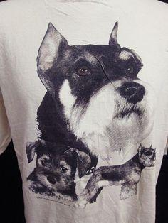 Vintage Yorkshire Terrier Hipster Animal Print Nature T-Shirt XL