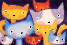 =^.^=, kittehs in color