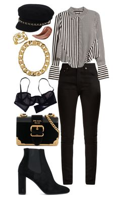 """Untitled #176"" by juliakaitlyn on Polyvore featuring River Island, Yves Saint Laurent, Prada, Eres, Gucci, AMBUSH and Chanel"