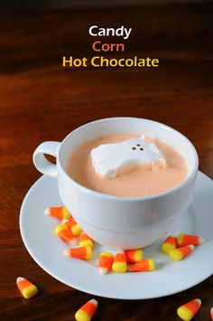 Candy Corn Hot Chocolate... Maybe sub candy Corn for something else...