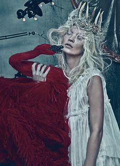 Kate Moss for W Magazine.