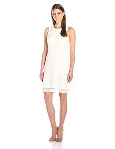 Gabby Skye Womens ALine Crochet Dress Ivory 4 *** Check out the image by visiting the link. (This is an affiliate link and I receive a commission for the sales)