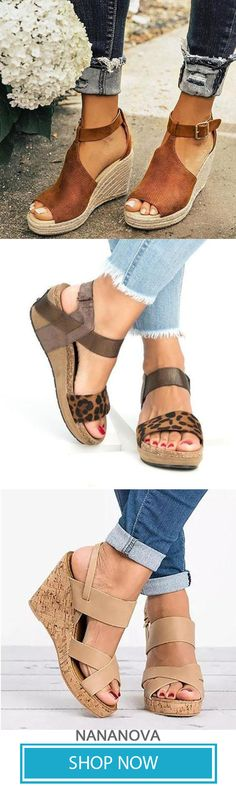 1445d87b1f16 29 Best Wedge Sandals images in 2019