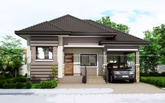 Topacio is a one story small home plan with one car garage. It consist of 3 bedrooms with the 2 bedrooms elevated further from the living room floor.