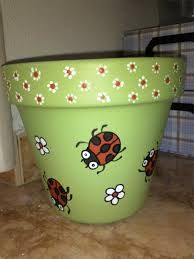 Green flowerpot - All About Flower Pot Art, Flower Pot Design, Clay Flower Pots, Flower Pot Crafts, Clay Pots, Cactus Flower, Paint Garden Pots, Painted Plant Pots, Painted Flower Pots