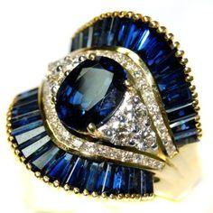 Diamond 18K Yellow Gold Wedding Cocktail Blue Sapphire Ring [RB0006] BKGjewelry http://www.amazon.com/dp/B00CDO426E/ref=cm_sw_r_pi_dp_he1mwb0HHQ4S4
