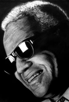 Ray Charles  Carbon sobre papel