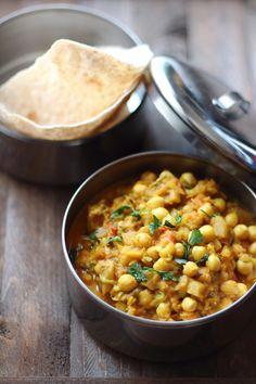 Curry di ceci e melanzane, carote, zucchine