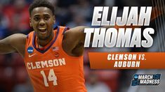 Clemson's Elijah Thomas posts a double-double in the Tigers' Second Roun...