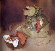 The Art of Children's Picture Books: Thumbeline, (Thumbelina), Lisbeth Zwerger