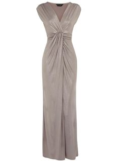 Taupe studded maxi dress - so pretty! Mob Dresses, Bridesmaid Dresses, Modest Evening Gowns, Taupe Maxi Dress, Groom Dress, Elegant Dresses, Stylish Outfits, Clothes For Women, Trending Outfits