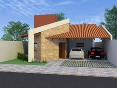 Fachada de casa Projeto Casa Térrea Gérbera - 134,51m²