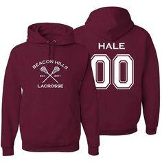 Adult Teen Wolf Beacon Hills Lacrosse Hale 00 Hoodie X-Large Maroon Teen Wolf Merch, Teen Wolf Outfits, Teen Wolf Clothes, Teen Wolf Fashion, Beacon Hills Lacrosse, Stilinski 24, Wolf Hoodie, Cool Hoodies, Adidas