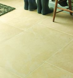 Neranjo Limestone in a honed finish. This limestone is very reminiscent of an English stone.