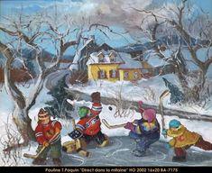 Oeuvres disponibles Livres disponibles Biographie Pauline Thibodeau Paquin est une artiste-peintre québécoise née en 1952 ... Winter Kids, Winter Holidays, Saint Monique, Frozen Pond, Galerie D'art, Canadian Art, Winter Pictures, Tole Painting, Winter Scenes