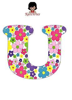 Flower Alphabet, Flower Letters, Monogram Alphabet, School Frame, Colorful Pictures, Coloring Pages, Stencils, Symbols, Scrapbook