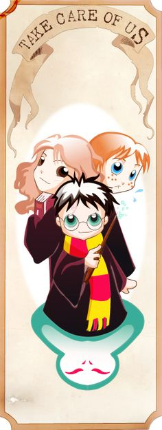 Harry Potter Bookmark by MadEye01.deviantart.com on @DeviantArt -- This is the vector version of an old bookmark (in traditional media)