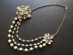 Excited to share this item from my shop: Layering necklace, crystals necklace, bridal necklace, rhinestones necklace, statement necklace, bridal jewelry, wedding necklace #wedding #victorian #blingglam #pearlsnecklace #bridalshowergift #forbrides Bridal Bracelet, Bridal Necklace, Rhinestone Necklace, Crystal Necklace, Crystal Rhinestone, Bridal Jewelry, Pearl Chain, Beautiful Necklaces, Necklace Lengths