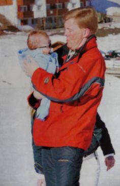 trotse pappa en Amalia met ski-bril