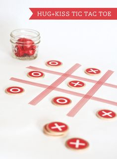 Hug Kiss Tic Tac Toe.  Play with candy hugs & kisses.  When o's win they eat a hugs candy, when x wins, they eat a candy kiss!