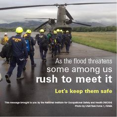 NIOSH provides guidance on personal protective equipment for flood cleanup, earthquakes, fighting wildfires, extreme heat, etc. Extreme Heat, Extreme Weather, Earthquake Emergency Preparedness, Flood Cleanup, Workplace Safety, Emergency Supplies, Natural Disasters, Public Health, Homestead