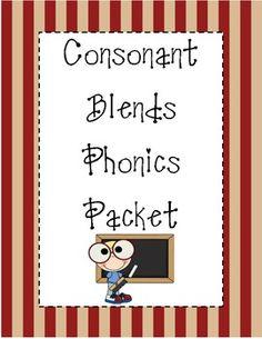Consonant Blends Phonics Packet
