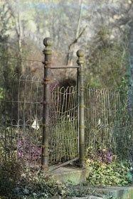 Country garden gate:)