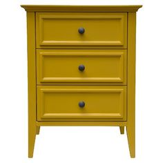 Elkton End Table Three Drawer Painted Yellow - Threshold™ : Target