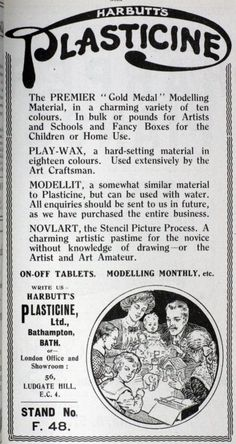 Harbutt plasticine advertisement (1922)